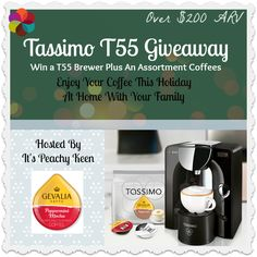 Tassimo T55 and Coffee Assortment Giveaway Ends December 20 2013