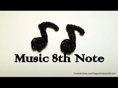 Rainbow Loom Music 8th Note charm - How to - Music Series - YouTube