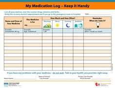 24 Best Medical Form Templates Images Medication Log Day Planners