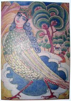 Illustration to 'Armenian folk tales' - Martiros Saryan