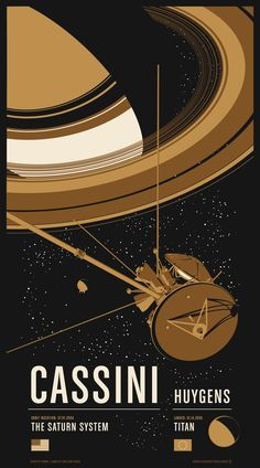 """Cassini"" by Chop Shop. 20"" x 36"" 3-color Screenprint. Ed of 275. $55"