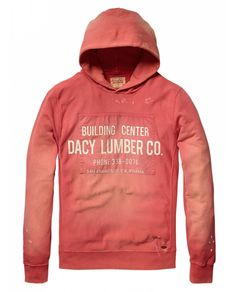 Hooded sweater with canvas printed patch - Sweaters - Official Scotch & Soda Online Fashion & Apparel Shops