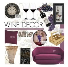 """""""Wine Decor"""" by kusja ❤ liked on Polyvore featuring interior, interiors, interior design, home, home decor, interior decorating, York Wallcoverings, Universal Lighting and Decor, Global Amici and Riedel"""