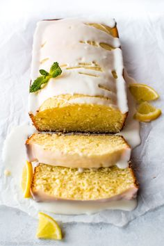 Luscious and moist lemon pound cake with sweet lemon icing. Simple and satisfying, this tastes incredible with fresh berries! Recipe on http://sallysbakingaddiction.com