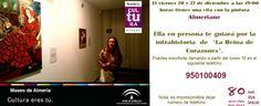 """Visitas guiadas a la Exposición """"La reina de corazones"""" por la propia artista Almeríane (viernes 20 y 27 de diciembre, a las 19:00 h.) Inscripciones en el teléfono: 950100409"""