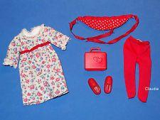 Vintage Tutti European Fashion VHTF ANUSCHKA #2187 VARIATION DRESS & HEART BAG
