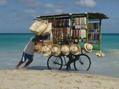 beach vendor bike - Varadero Cuba