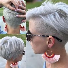 "Pixie, Platinum pixie, undercut, platinum short hair 1,459 Likes, 58 Comments - Melinda Keener | Fringe Salon (@heymelindak) on Instagram: ""JUST SO WE ARE CLEAR, I'M A HAIRSTYLIST----Some of you have asked for a new updated pic of my hair…"""