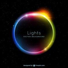 lumières de couleur de fond Vecteur gratuit