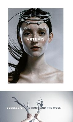 """Artemis (or Diana in Roman mythology) is the goddess of the hunt, the wilderness, wild animals, childbirth, virginity, and the moon. She is also the protector of young girls. She is the daughter of Zeus and Leto,and her brother, Apollo, is the god of the sun. """"Leto bore Apollon and Artemis, delighting in arrows, Both of lovely shape like none of the heavenly gods, As she joined in love to the Aegis-bearing ruler."""" #myth"""