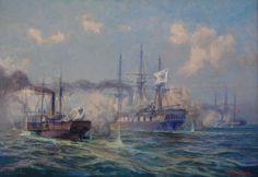 Naval battle between Prussian and Danish fleets