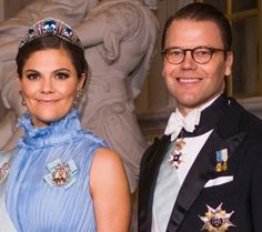 The Crown Princess and Prince Daniel at Nobel 2017.