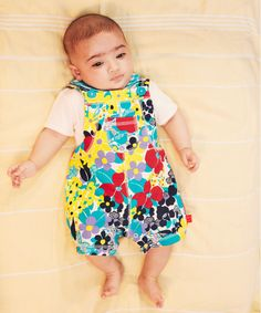 Little Bird by Jools Floral Dungarees and Bodysuit Set