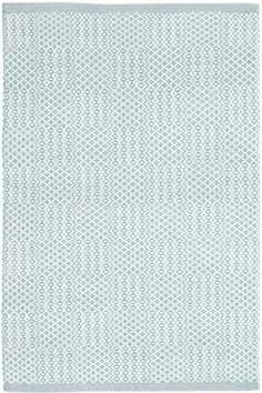 Dash & Albert   Bonnie Blue Woven Cotton Rug   Interior decorating icon Bunny Williams smartly updated our classic lightweight cotton area rug with a dose of graphic appeal, thanks to a detailed pattern and a goes-with-anything, soft blue hue.