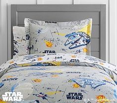 Organic <em>Star Wars: The Last Jedi</em>™ Scenic Duvet Cover