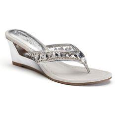 c8392016ea28 Thom McAn Women s Elise White Tan Cork Wedge Sandal  fashion ...