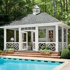 Fabulous pool house! Photo: Erica George Dines in Southern Living