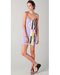 Tibi | Purple Arizona Print Slip Dress | Lyst