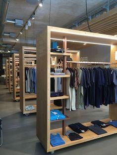 Clothing Store Interior, Clothing Store Design, Boutique Interior, Shop Shelving, Retail Shelving, Loft Storage, Store Layout, Clinic Design, Showroom Design
