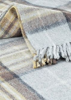 100% Wool Mackellar Tartan Rug Throw Blanket Gift