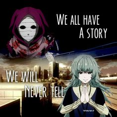 We all have a story we will never tell, Eto, ghoul, human form, text, sad; Tokyo Ghoul