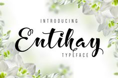 Entihay Typeface by banks on @creativemarket