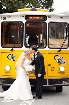 trolley wedding getaway