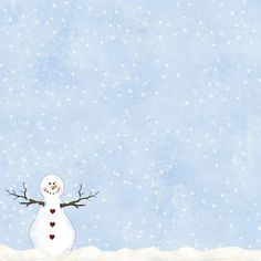 "Granny Enchanted's Paper Directory: Free Blue Snowing 12"" Digi Scrapbook Paper"