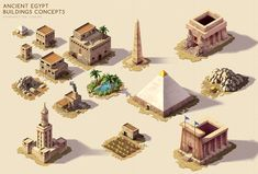 Ancient Egypt - Buildings concepts by rainerpetterart on DeviantArt