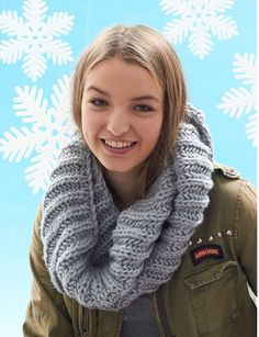 Granddaughter Easy Knit Cowl free pattern