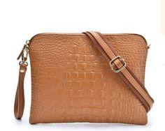 Crocodile Pattern Messenger Handbag