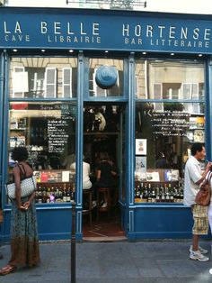 La Belle Hortense, Paris, France, Combination Wine Bar + Bookshop // 31 rue…