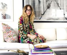 Check out Kyle DeWoody's apartment, home and art inspiration, and she is just lovely too.