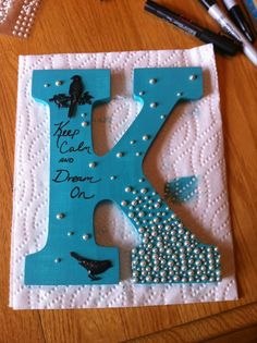 wooden letters craft ideas wooden letter painters aqua paint and pearls 5774