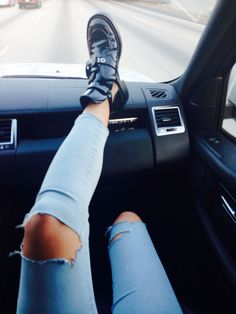 ---Ripped jeans and booties make the world go round---