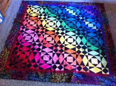 Rainbow Quilt: Rainbow Storm at Sea - Quilters Club of America
