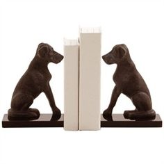 """ART Harley Iron Bookends, Pair 8""""x6""""W3""""D"""