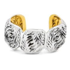 Ravishingly lustrous, the palm cuff is crafted in the finest sterling silver:  $650.00