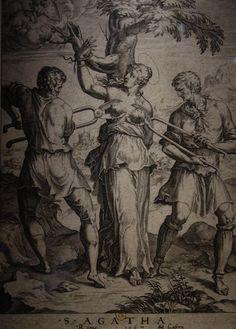 Antoine Lafréri (1512-1577), d'après Cornélis Cort (1533-1578). Sainte Agathe, 1567. Estampe