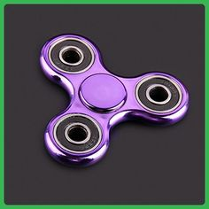 RameyStore Bright Color Electroplate EDC Spinner Fidget Toys Reduce Anxiety Toys Purple - Fidget spinner (*Amazon Partner-Link)