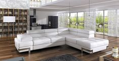 --- NOW £900 INC.VAT --- ** INSTALMENTS 12 MONTHS - 0% ** ~ FREE DELIVERY !! ~ The unique Corner Sofa Bed Emporio- a relax headrest function and built-in a storage. Add a touch of modern luxury to your home with the beautifully crafted corner.   Dimensions (cm):  Width:275 x Height:69/89 x Depth:220  Sleeping Area(cm):W:192 x D:118   Warranty 24 months