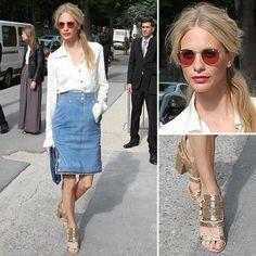 Poppy Delevigne bringing retro jean skirts back