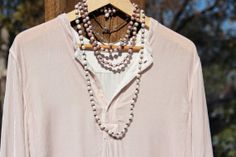 Long+Pearls+on+Leather+Cord+Necklace+White+by+HappyGoLuckyJewels,+$112.00