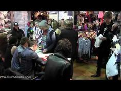 Asking Alexandria Band Signing At Blue Banana Birmingham