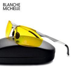 944775fcc9b9 51% СКИДКА 2018 Алюминий магния солнцезащитные очки Для мужчин  поляризационные UV400 вождения Ночное видение очки спортивные солнцезащитные  очки Óculos de ...