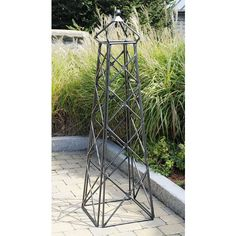 Have to have it. Achla Designs 5.5-ft. Square Iron Country Cottage Obelisk Trellis - $199.99 @hayneedle