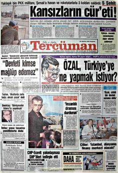 Tercüman gazetesi 20 ağustos 1992