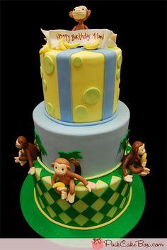 monkey cake...great idea for a boys birthday cake