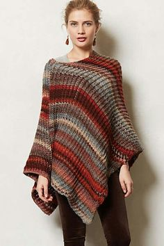Anthropology poncho to knit