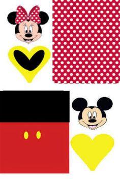 Mickey y Minnie: Envoltorios Especiales para Golosinas, para Imprimir Gratis.